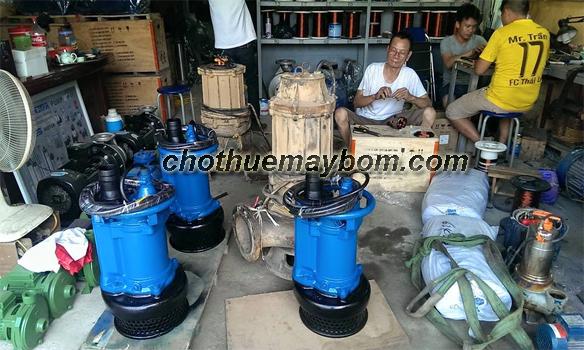 Cho thuê máy bơm nước thải công suất lớn