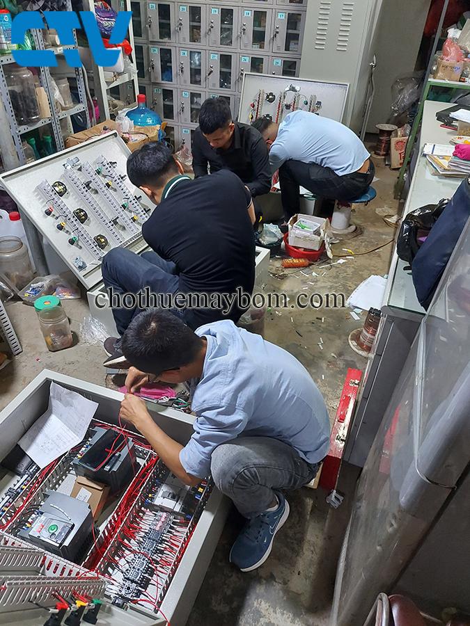 Tư vấn, thiết kế, lắp đặt tủ điện điều khiển máy bơm cấp nước sinh hoạt