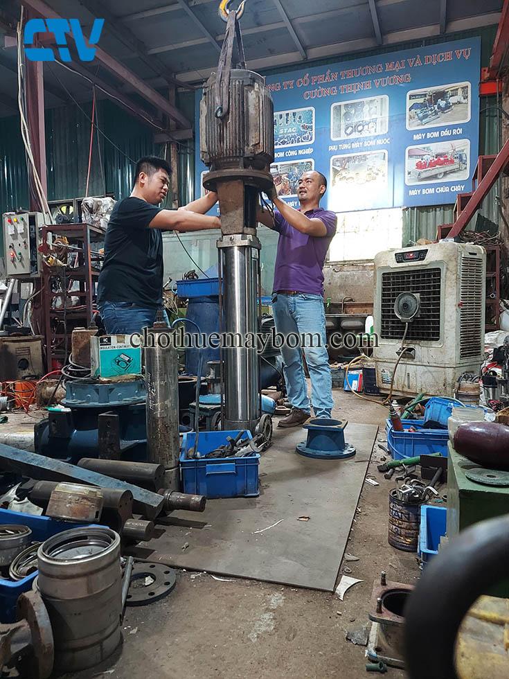 Sửa máy bơm nước - Sửa máy bơm trục đứng uy tín, chất lượng